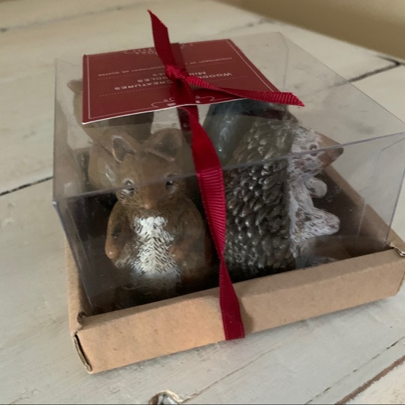 Pottery Barn Woodland Creatures Candle Set